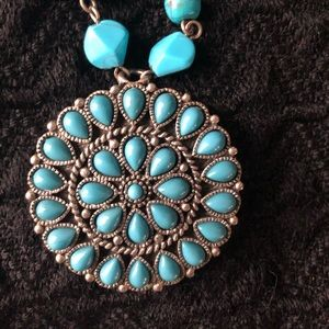 Robert Rose Faux Turquoise Pendant Necklace